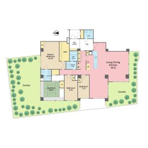 4LDK Apartment in Nishiazabu - Minato-ku Floorplan