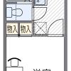 1K アパート 京都市上京区 間取り