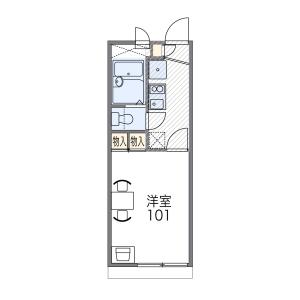 1K Apartment in Ebisucho - Kyoto-shi Kamigyo-ku Floorplan
