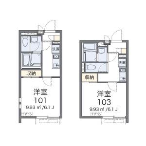 澀谷區恵比寿南-1K公寓大廈 房間格局