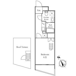 1K Apartment in Mishuku - Setagaya-ku Floorplan