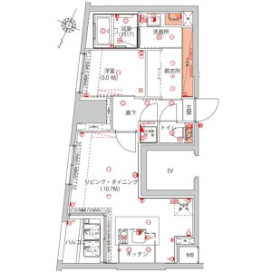 1LDK Mansion in Iwamotocho - Chiyoda-ku Floorplan