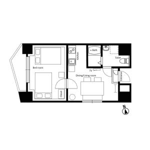 1LDK Mansion in Daikyocho - Shinjuku-ku Floorplan