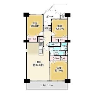 3LDK {building type} in Irifune - Urayasu-shi Floorplan