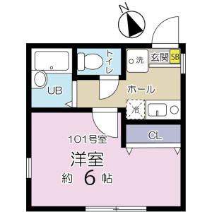 1K Apartment in Nishidai(1-chome) - Itabashi-ku Floorplan