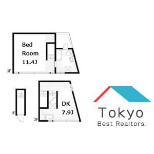涩谷区恵比寿-1LDK公寓大厦 楼层布局