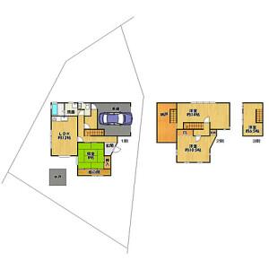 4LDK {building type} in Hirogawara(kakumachi) - Kyoto-shi Sakyo-ku Floorplan