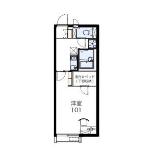 1K Apartment in Kamikoya - Yachiyo-shi Floorplan