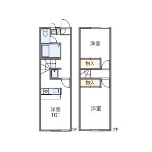 2DK Mansion in Shindenjuku - Zama-shi Floorplan