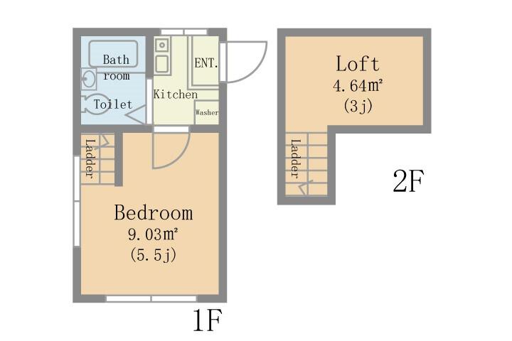 1K Apartment to Rent in Funabashi-shi Floorplan