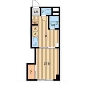 1DK Mansion in Mita - Minato-ku Floorplan