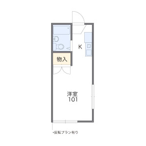 1K Apartment in Mozumemachi - Sakai-shi Kita-ku Floorplan