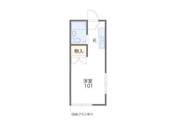 在堺市北区内租赁1K 公寓 的 楼层布局