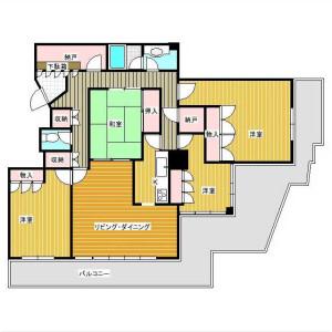 4LDK Mansion in Kaneya - Yokosuka-shi Floorplan