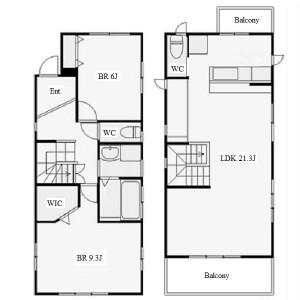 2LDK House in Daimancho - Nagoya-shi Meito-ku Floorplan