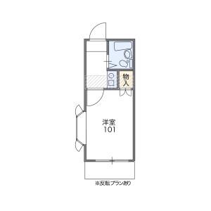 1K Mansion in Hiyoshihoncho - Yokohama-shi Kohoku-ku Floorplan