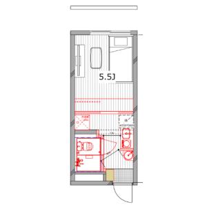 涩谷区恵比寿-1R公寓大厦 楼层布局