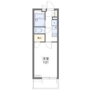 1K Mansion in Fujimidai - Kunitachi-shi Floorplan