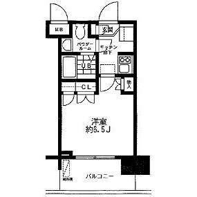 1K Mansion in Omorihigashi - Ota-ku Floorplan