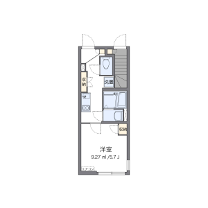 1K Apartment in Tokumaru - Itabashi-ku Floorplan