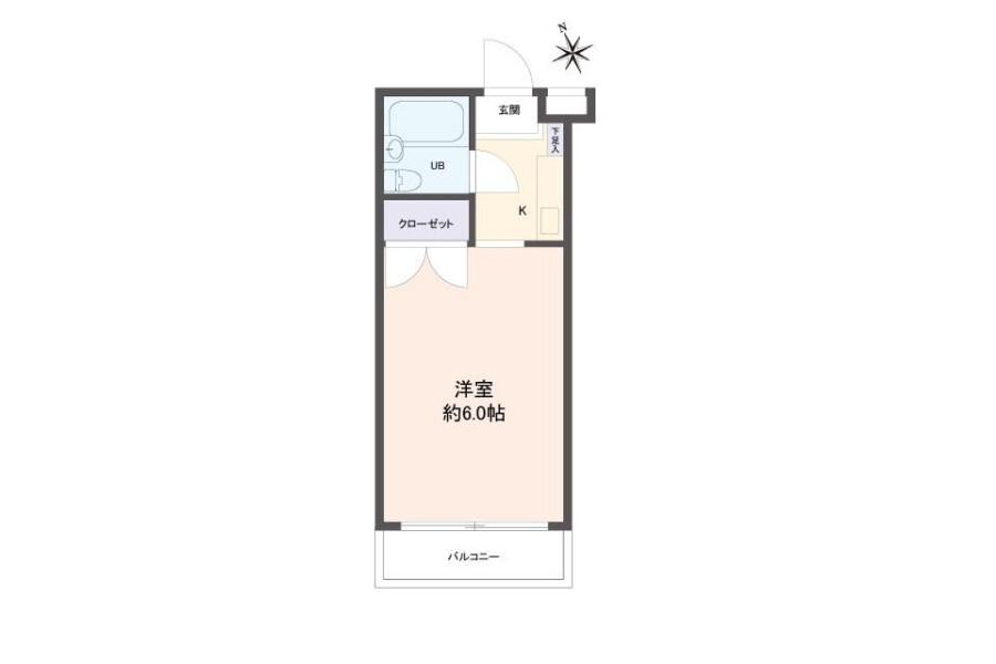 在Nagoya-shi Showa-ku購買1R 公寓的房產 房間格局