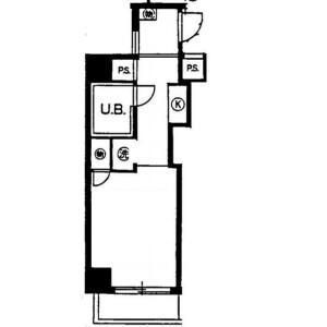 1R Mansion in Higashioi - Shinagawa-ku Floorplan