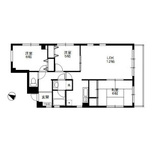 3LDK Mansion in Kubomachi - Kawagoe-shi Floorplan