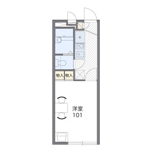 1K Apartment in Saidera - Suita-shi Floorplan