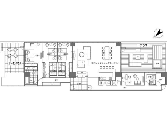 3LDK Apartment to Buy in Abuta-gun Rusutsu-mura Floorplan