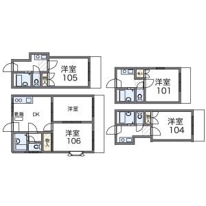 1K Apartment in Odo - Fukuoka-shi Nishi-ku Floorplan