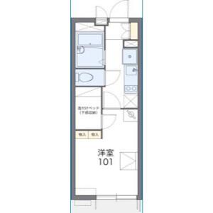 1K Mansion in Yahiro - Sumida-ku Floorplan