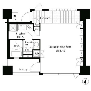 1R Mansion in Udagawacho - Shibuya-ku Floorplan