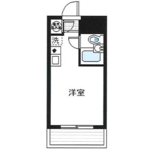 1R Apartment in Shinjuku - Shinjuku-ku Floorplan