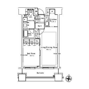 1LDK Mansion in Yushima - Bunkyo-ku Floorplan