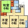 3DK Apartment to Rent in Chiba-shi Inage-ku Floorplan