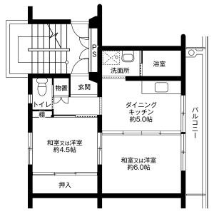 2DK Mansion in Iwauchimachi - Nomi-shi Floorplan