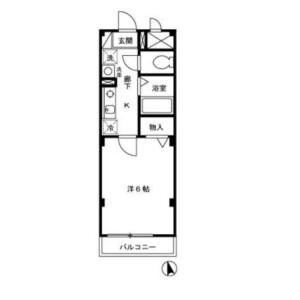 1K Mansion in Asahicho - Akishima-shi Floorplan
