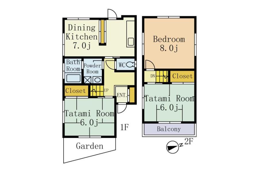 3DK House to Rent in Matsudo-shi Floorplan