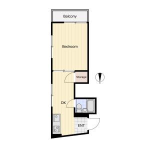 1DK Mansion in Hiratsuka - Shinagawa-ku Floorplan