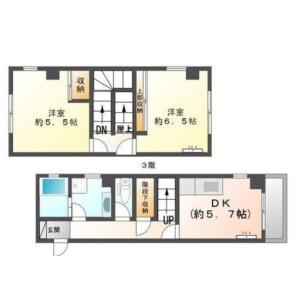 2DK Mansion in Denenchofu minami - Ota-ku Floorplan
