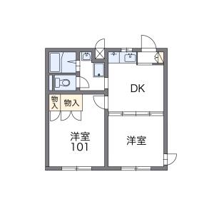 1K Mansion in Utsukushigaoka minami - Chikushino-shi Floorplan