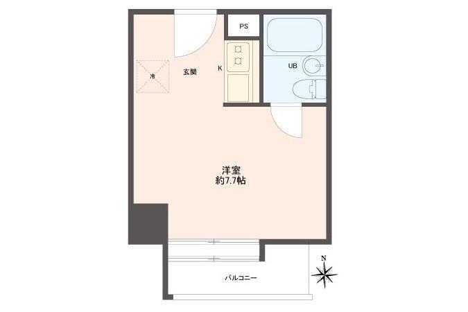 1R Apartment to Buy in Meguro-ku Floorplan