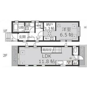 1LDK House in Shirokane - Minato-ku Floorplan