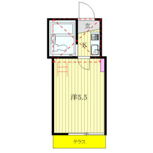 1K Apartment in Tabata - Kita-ku Floorplan