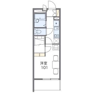 1K Apartment in Kizaki - Saitama-shi Urawa-ku Floorplan
