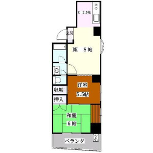 2LDK Mansion in Misuji - Taito-ku Floorplan