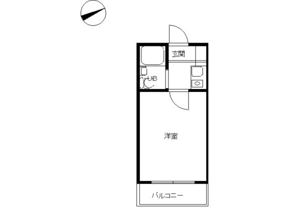 1R Apartment to Rent in Suginami-ku Floorplan