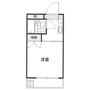 1R Mansion in Tobecho - Yokohama-shi Nishi-ku Floorplan