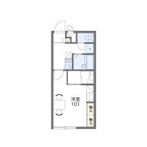 1K Apartment in Sakamoto - Dazaifu-shi Floorplan