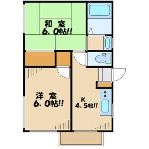 2DK Mansion in Nishikojiya - Ota-ku Floorplan